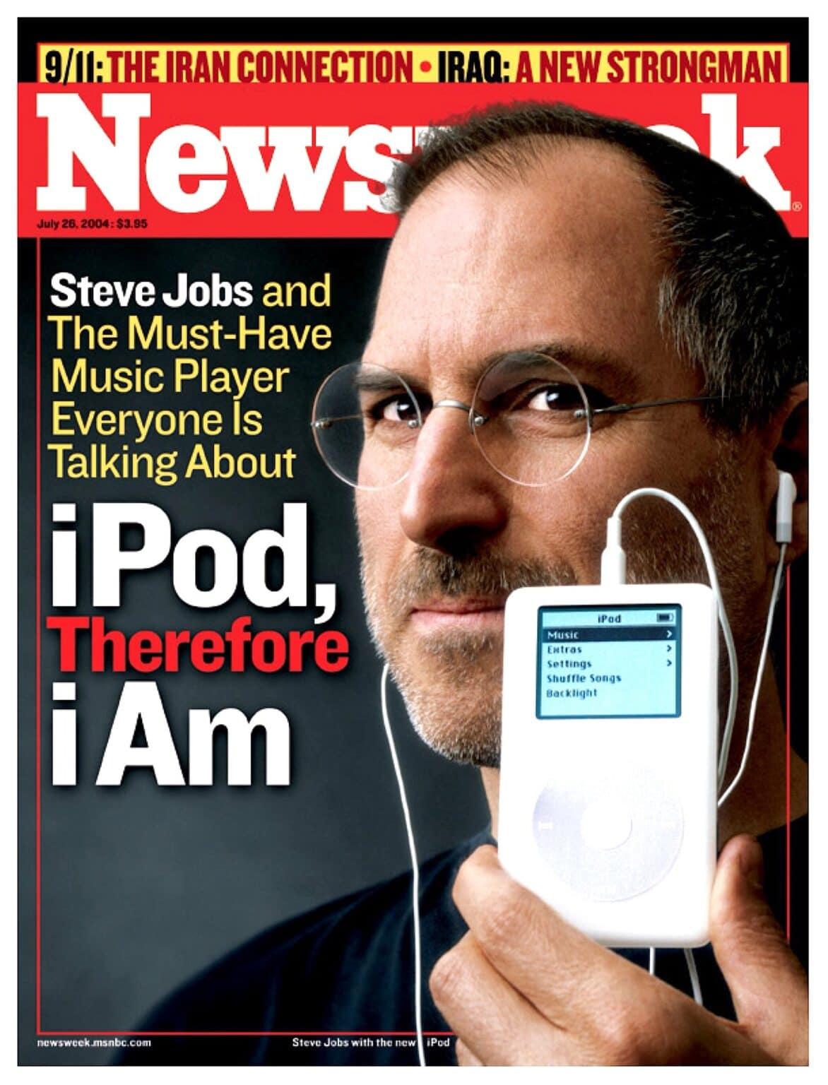 Steve Jobs on the cover of NewsWeek