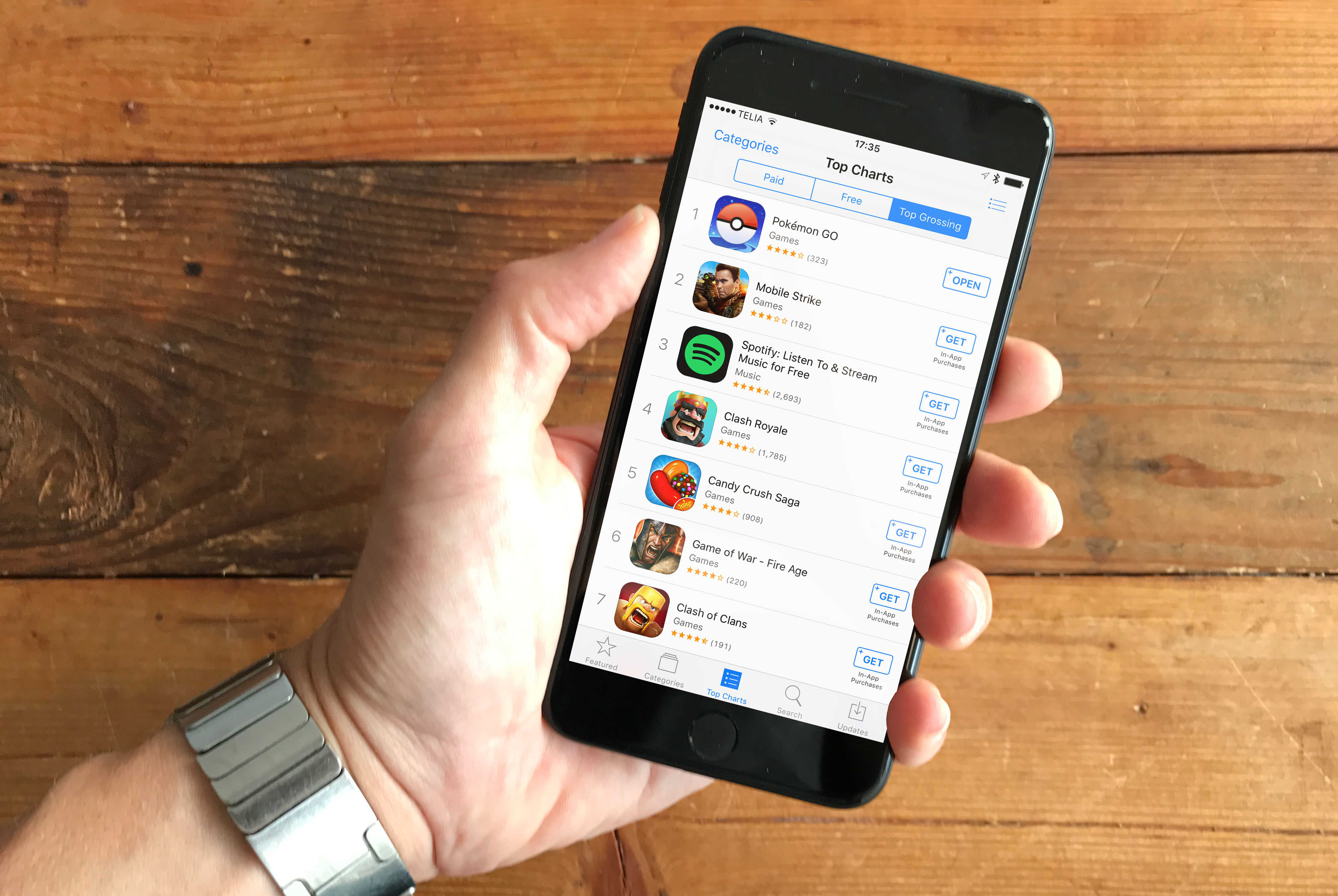Only one of the top 200 grossing apps is a paid app