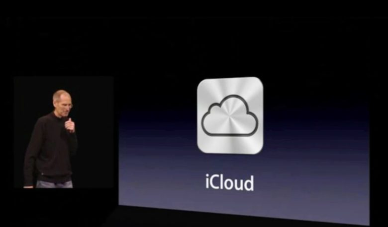 Steve Jobs shows iCloud to the world.