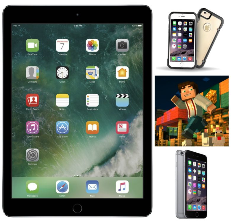 Snag great deals on iPads and iPhones, plus cases to cover them and a hot game to play on them.