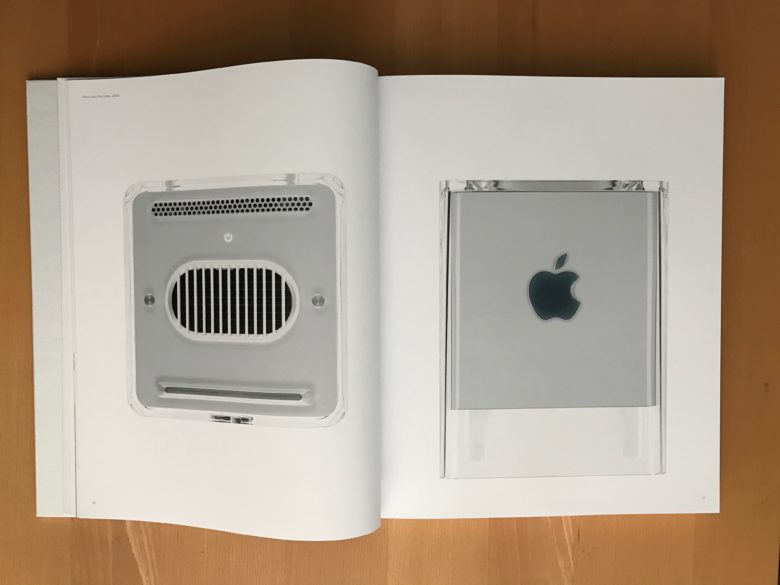 The iconic PowerMac G4 Cube, as seen in the Designed by Apple in California book