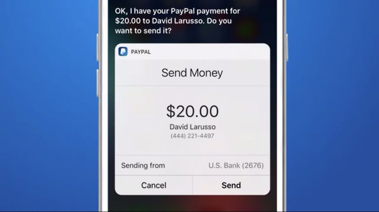 Siri can now send friends cash using PayPal.