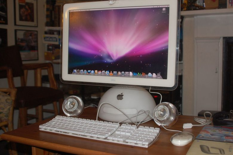 Apple's 20-inch iMac G4 in all its glory.