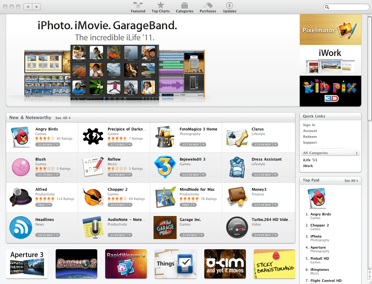 A look at the Mac App Store when it launched