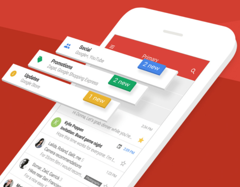 Gmail for iOS gets a fancy new look and new features