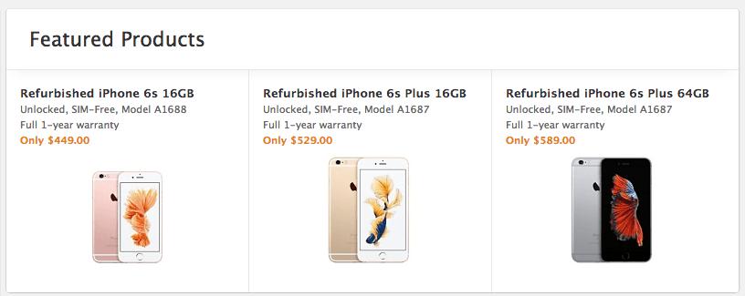 iphone 6s refurbished deals