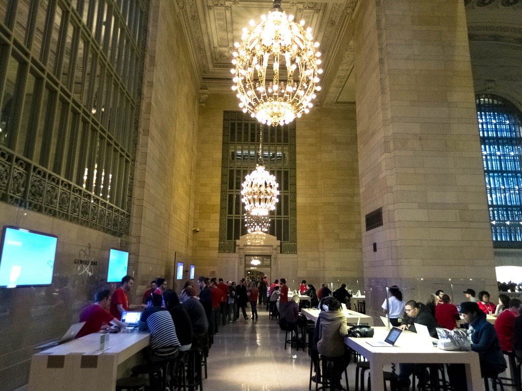 The Grand Central Apple Store did good business the weekend of its opening