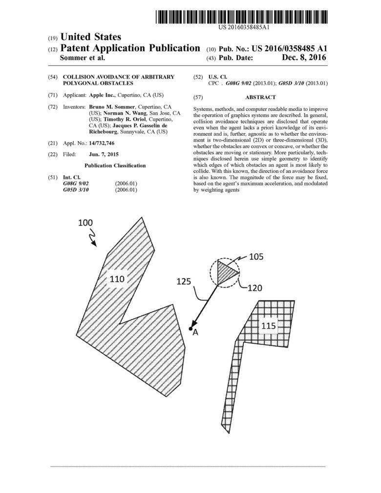 Apple self-driving patent