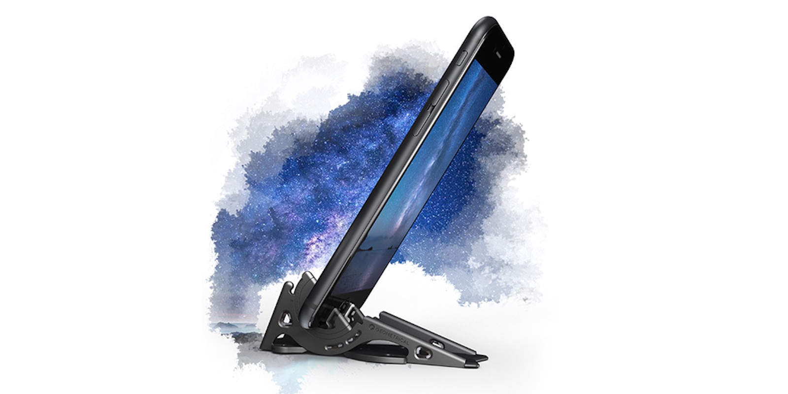 This fully featured, sturdy tripod folds up into credit card size and fits right into your wallet.