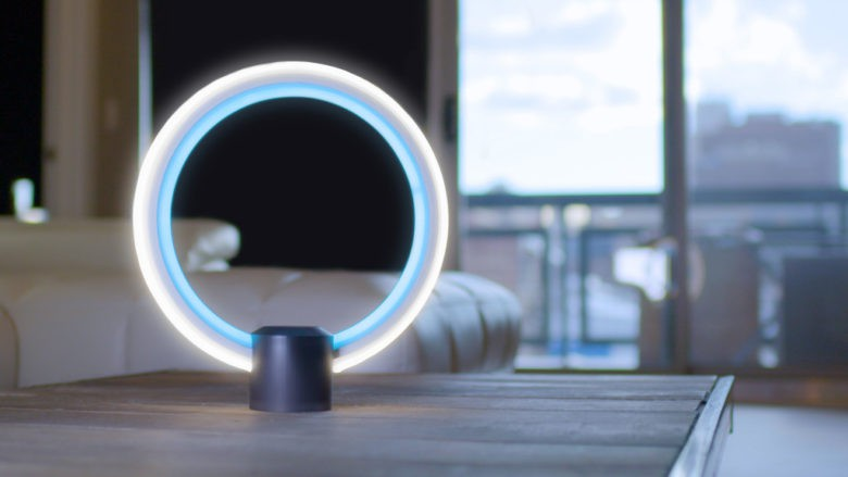 GE's prototype adds Amazon's voice-activated assistant Alexa to a tabletop LED lamp.