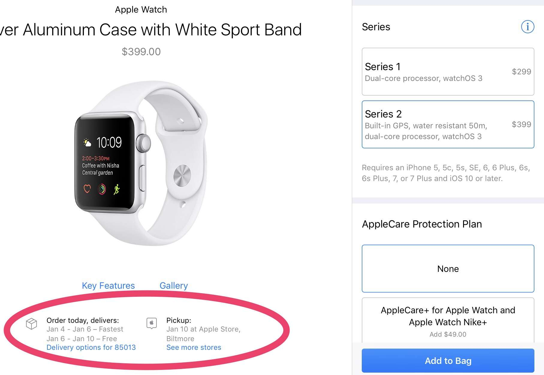 Apple Watch 2 is in short supply.