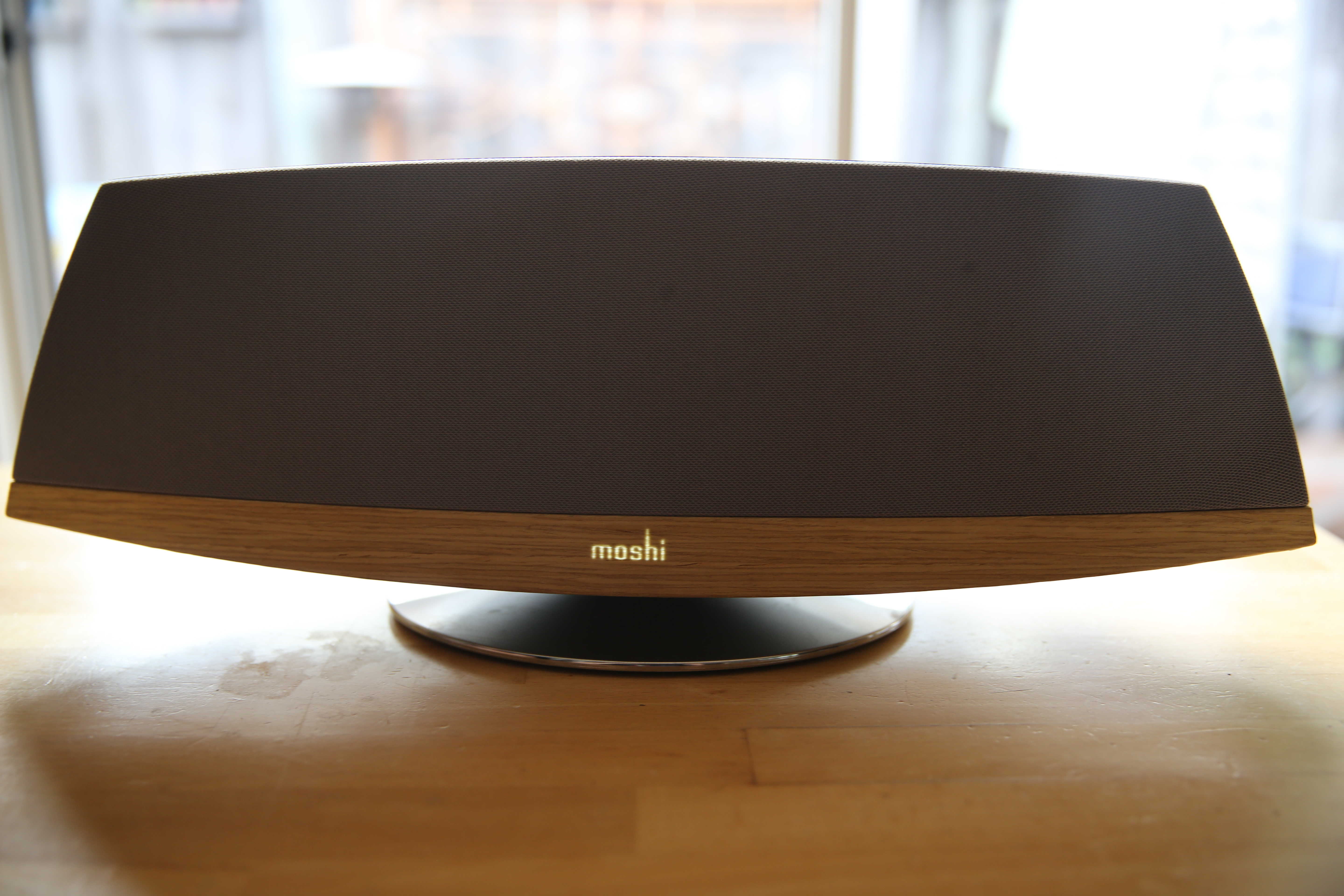 Moshi's Spatia Wireless AirPlay Speaker speaker has retro looks, but is thoroughly modern under the hood.