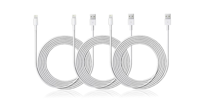 Get triple backup and extra reach for your iPhone's lifeline with this bundle of MFi-certified Lightning cables.