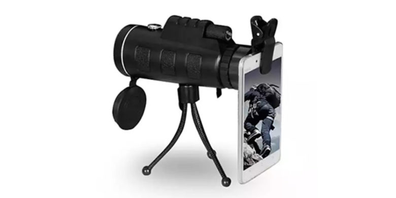 CoM - Zoomable 60X Monocular with Smart Phone Attachment