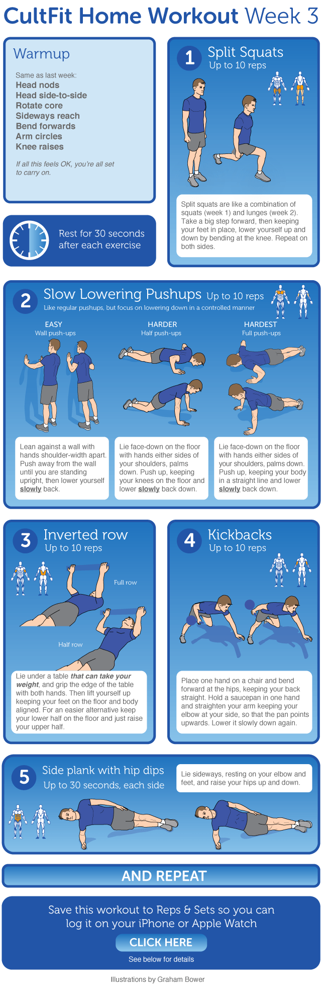 Add new exercises to your fitness routine with cultfit home workout want a hard copy of the exercise diagrams download the cultfit home workout week 3 program in printable pdf format pooptronica Gallery