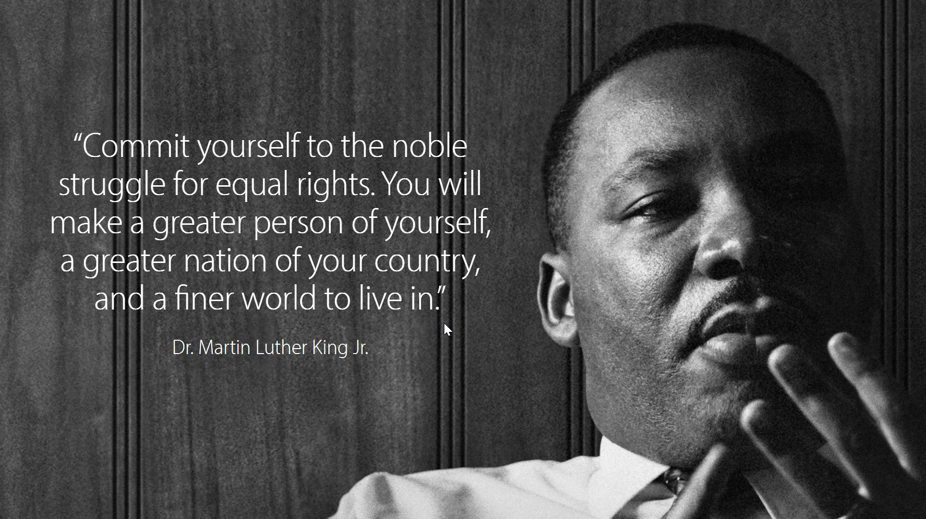 the fight of martin luther king Dr martin luther king jr was not only a civil rights pioneer he was also a  champion for the poor.