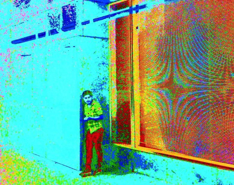 "Joe Cunningham ""psychedelic iPhone"" urban street scene"