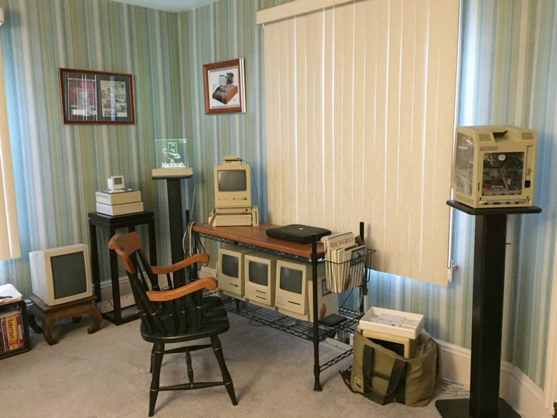 How do you like them Apples? Adam Rosen's home is the Vintage Mac Museum.
