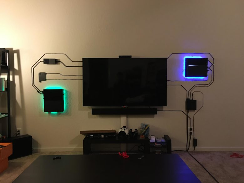 Surprising This Home Theater Setup Makes Exposed Wires Look Cool Wiring 101 Mecadwellnesstrialsorg