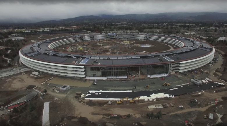 Landscaping on Apple's HQ is still underway.