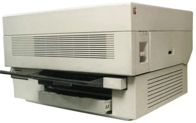 The Apple LaserWriter ushered in a massive breakthrough in desktop publishing