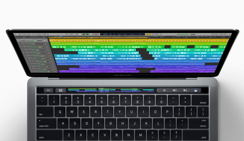 Logic Pro X now supports the Touch Bar.