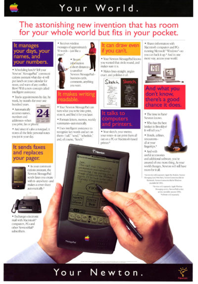 The Newton MessagePad was ahead of its time