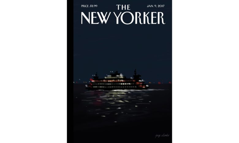 Jorge Colombo drew the New Yorker cover on iPad Pro.