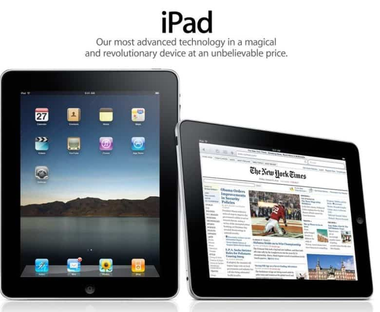 The first-gen iPad in all its glory.