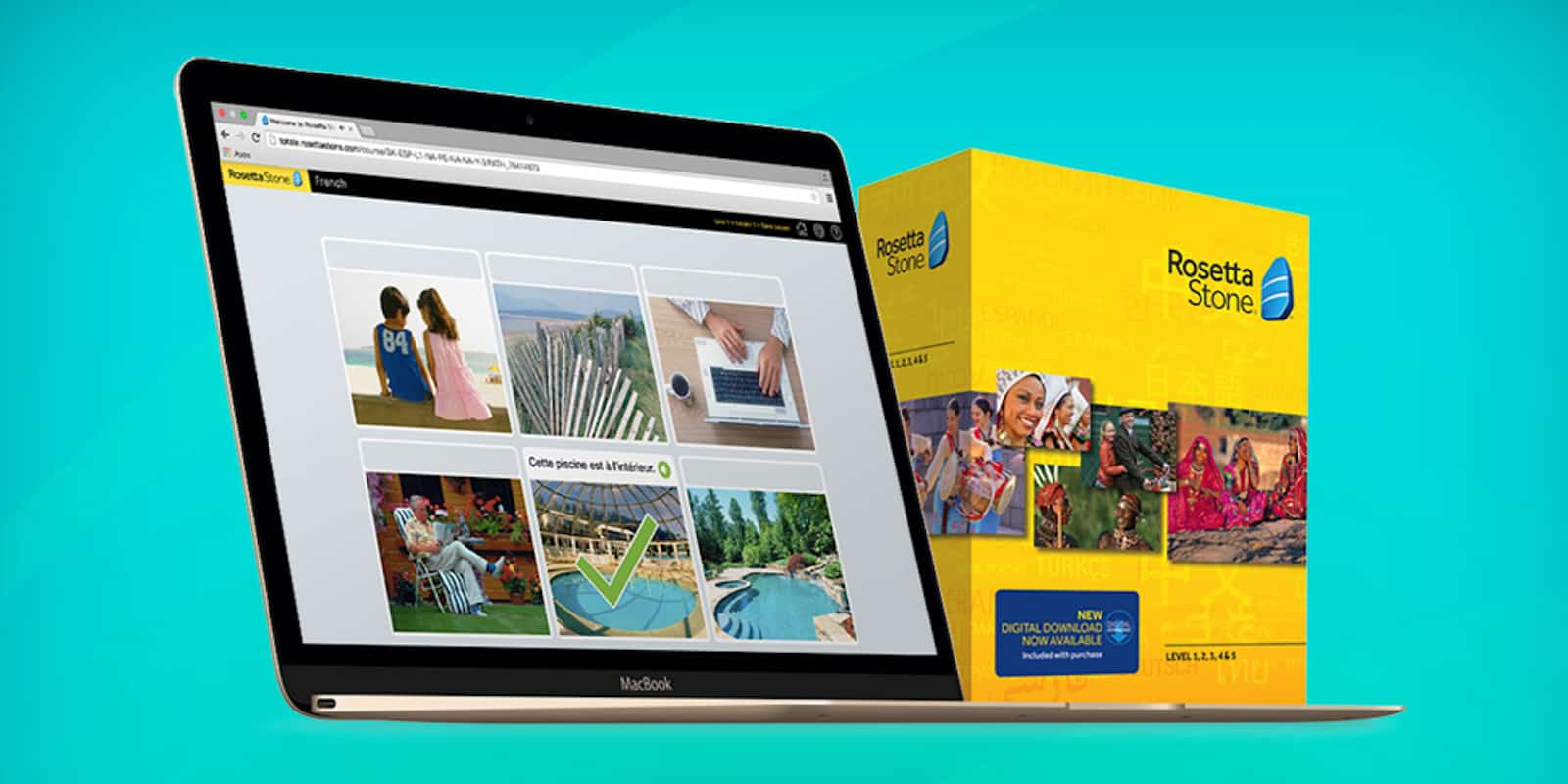 CoM - Rosetta Stone® Language Learning (Levels 1-5 Instant Download)