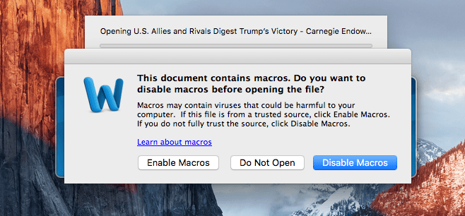 Mac-macro-malware