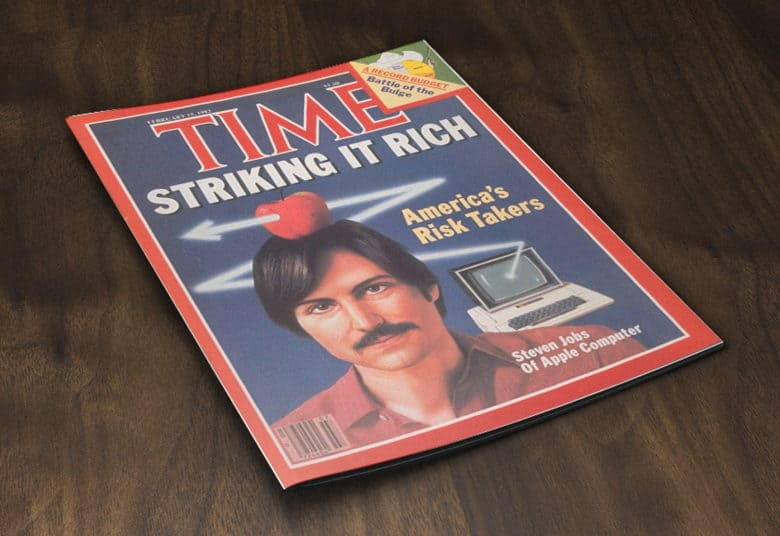 With Steve Jobs first Time magazine cover, he becomes the face of the 1980s tech boom.