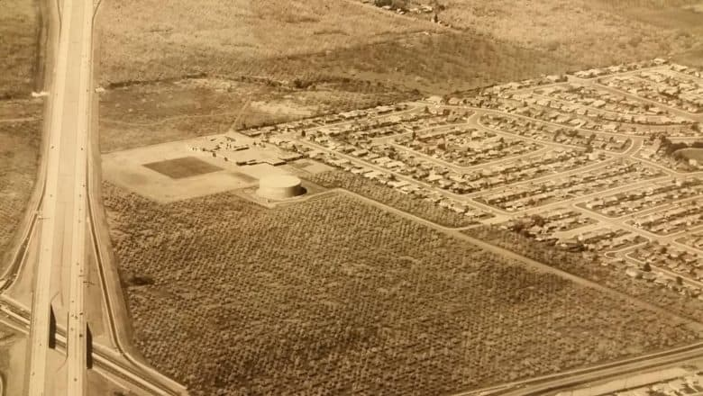 The site of Apple's spaceship campus back in 1961.