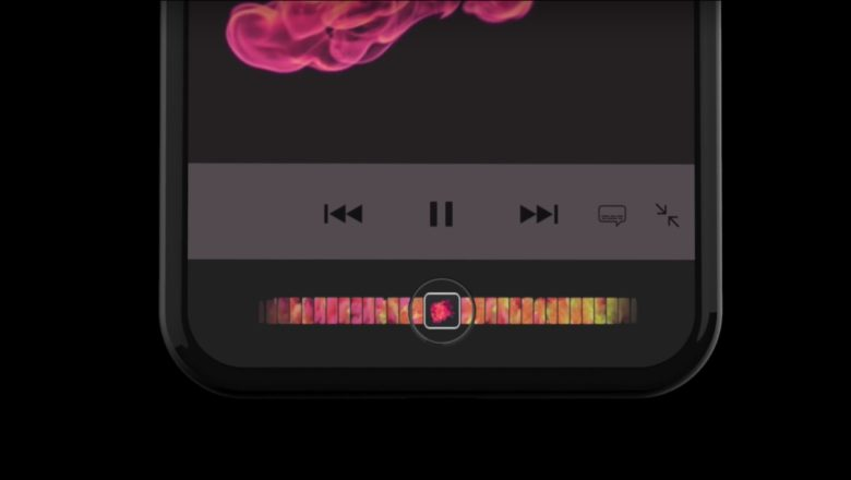 iphone 8 concept with touch bar