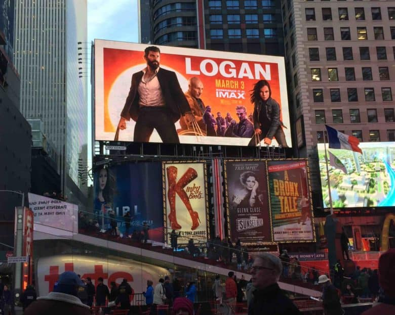 This Logan promo poster clawed its way from an iPad Pro to New York City's Times Square.