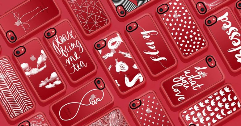 Casetify offers elegant and quirky designs for a clear iPhone case to bring out the red on the new PRODUCT(RED) iPhone 7 and 7 Plus.