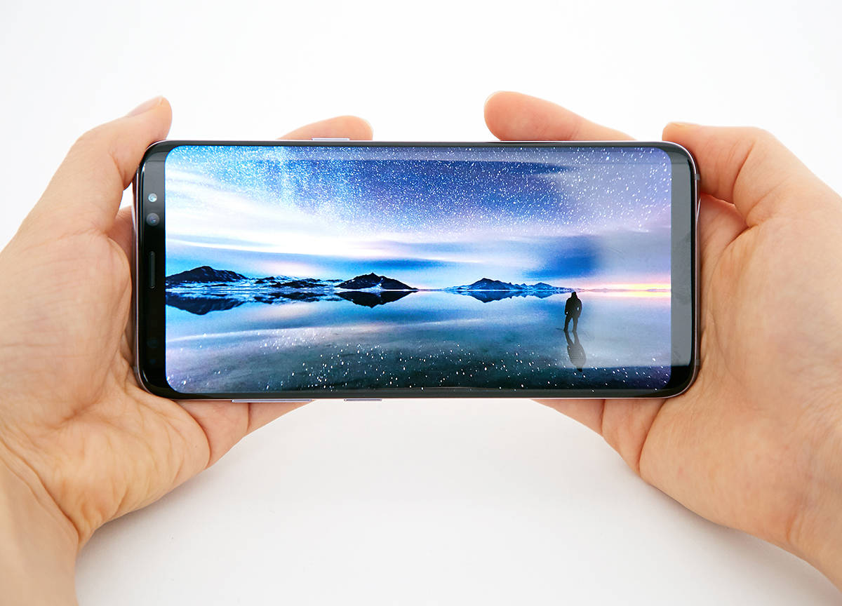 Galaxy S8 in hand