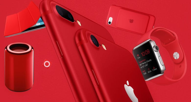 Which Apple PRODUCT(RED) product has us seeing red?