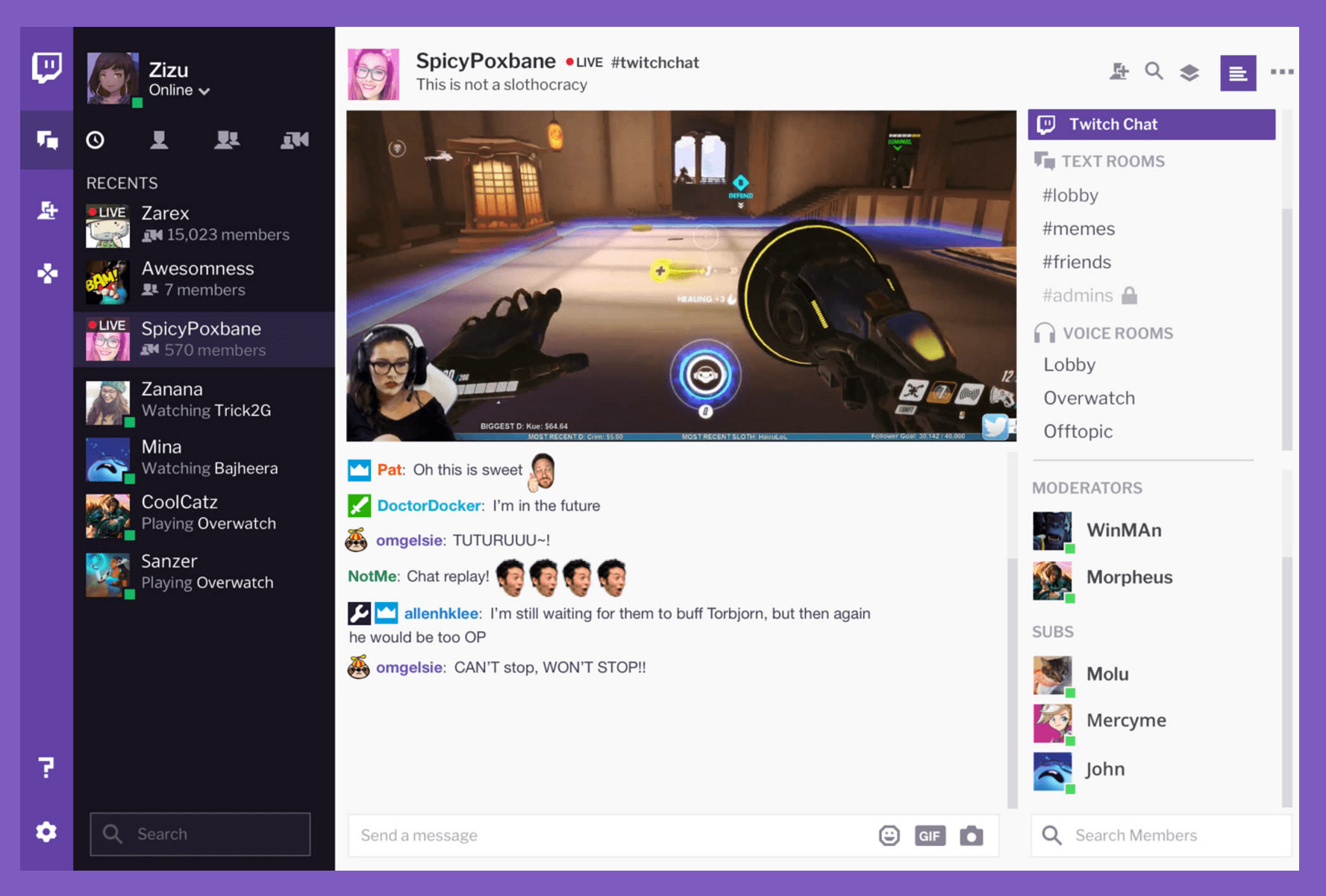Twitch desktop