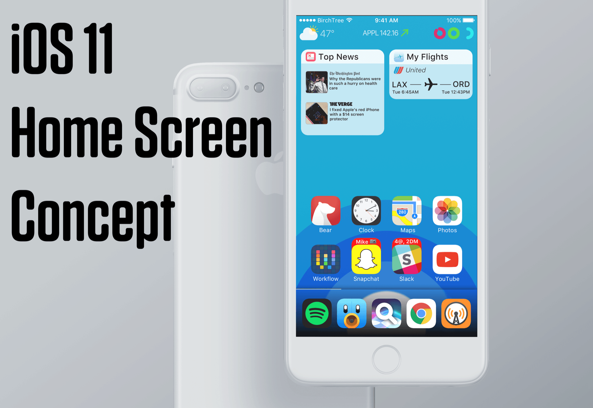 The Home screen becomes more than just an app launcher.