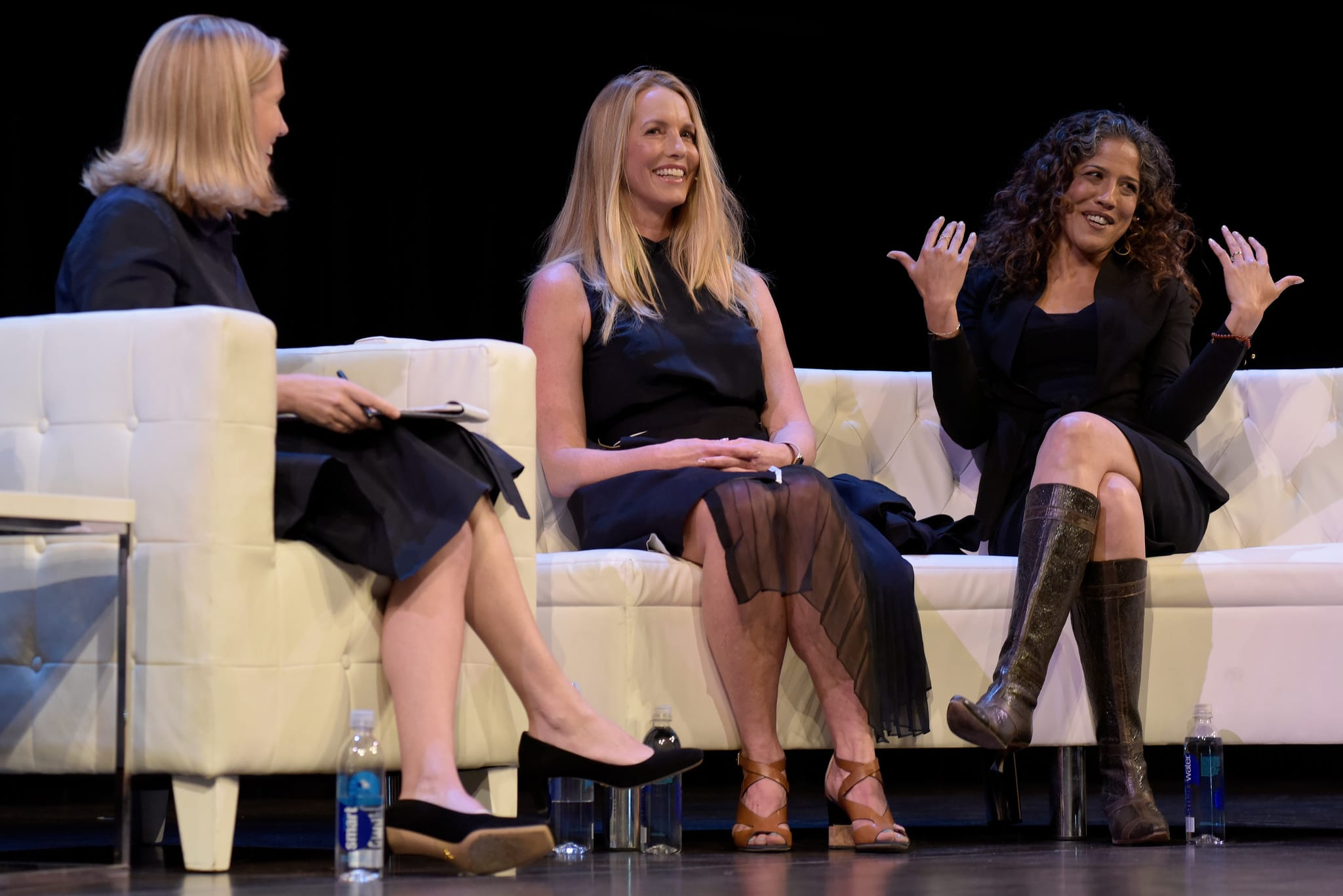 Laurene Powell Jobs (center) at the Female Founders Conference 2016 in San Francisco.