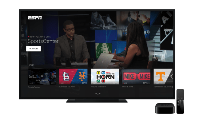 Get your hands on the new ESPN app for Apple TV now.