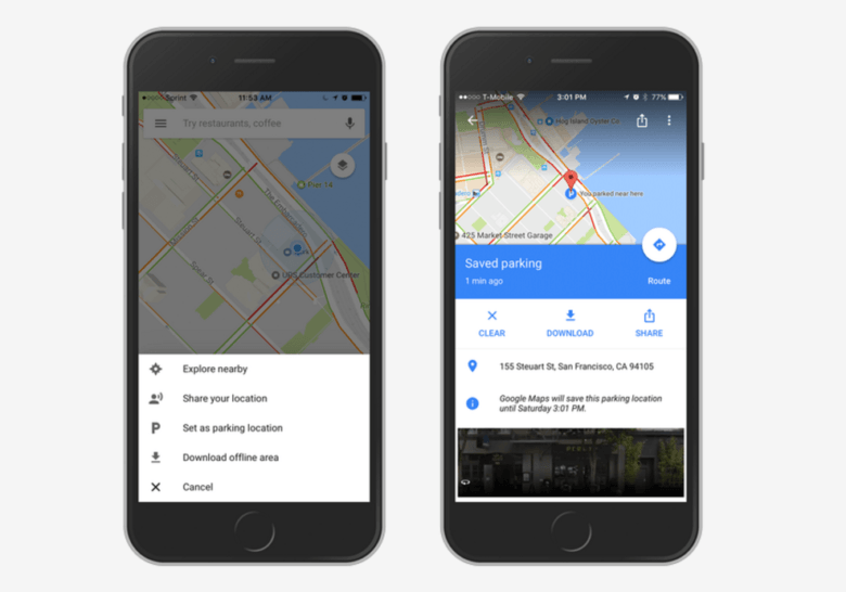 Google Maps for iOS will now remember where you parked on google messenger ios, google drive ios, google app ios, bloons td 5 ios, bing ios, nokia maps ios, real racing 3 ios, apple maps ios,