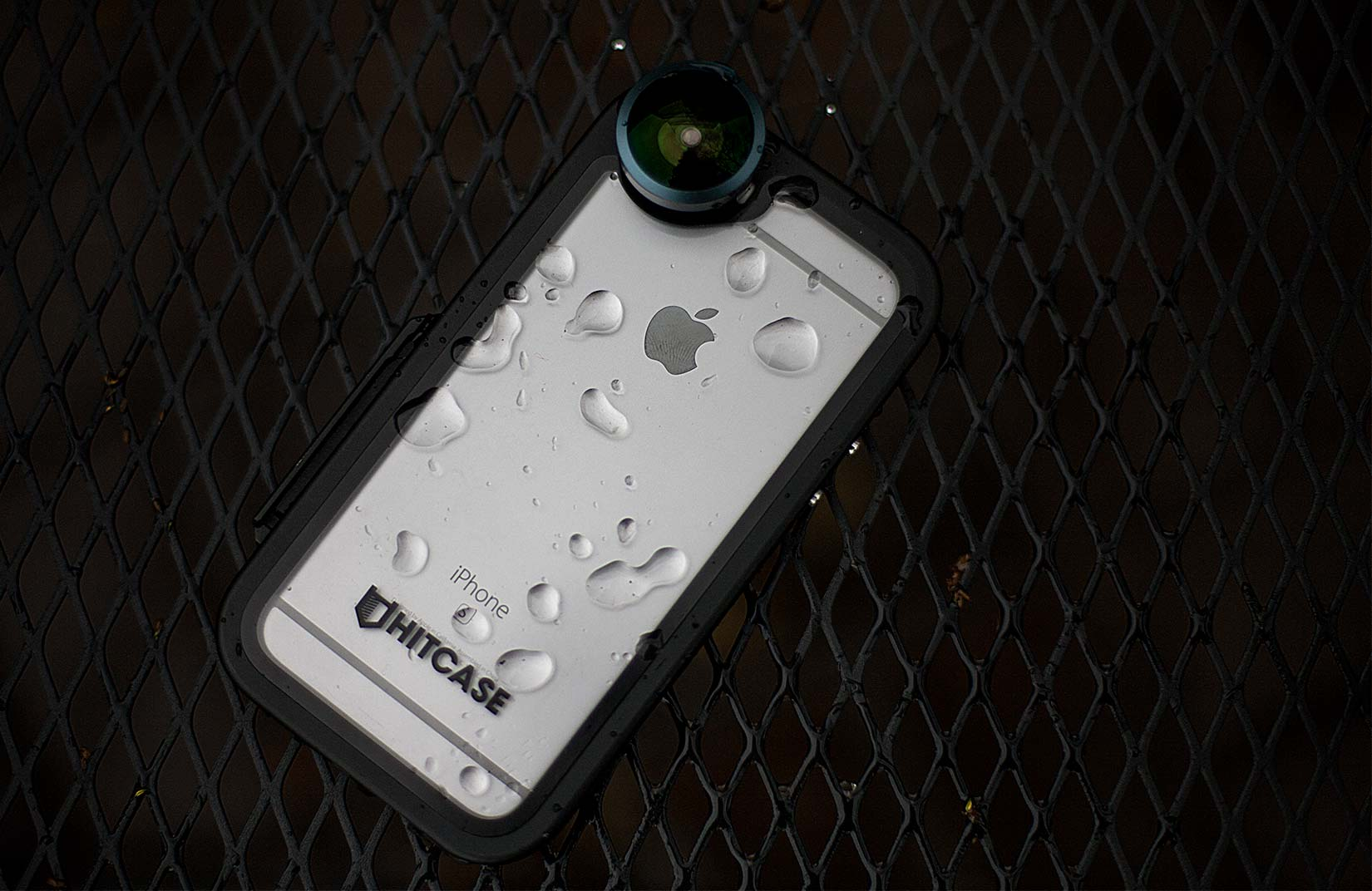 The Hitcase Pro 2.0, shown with a super-wide lens, is now available for iPhone 6, 6s and 7 on Kickstarter.
