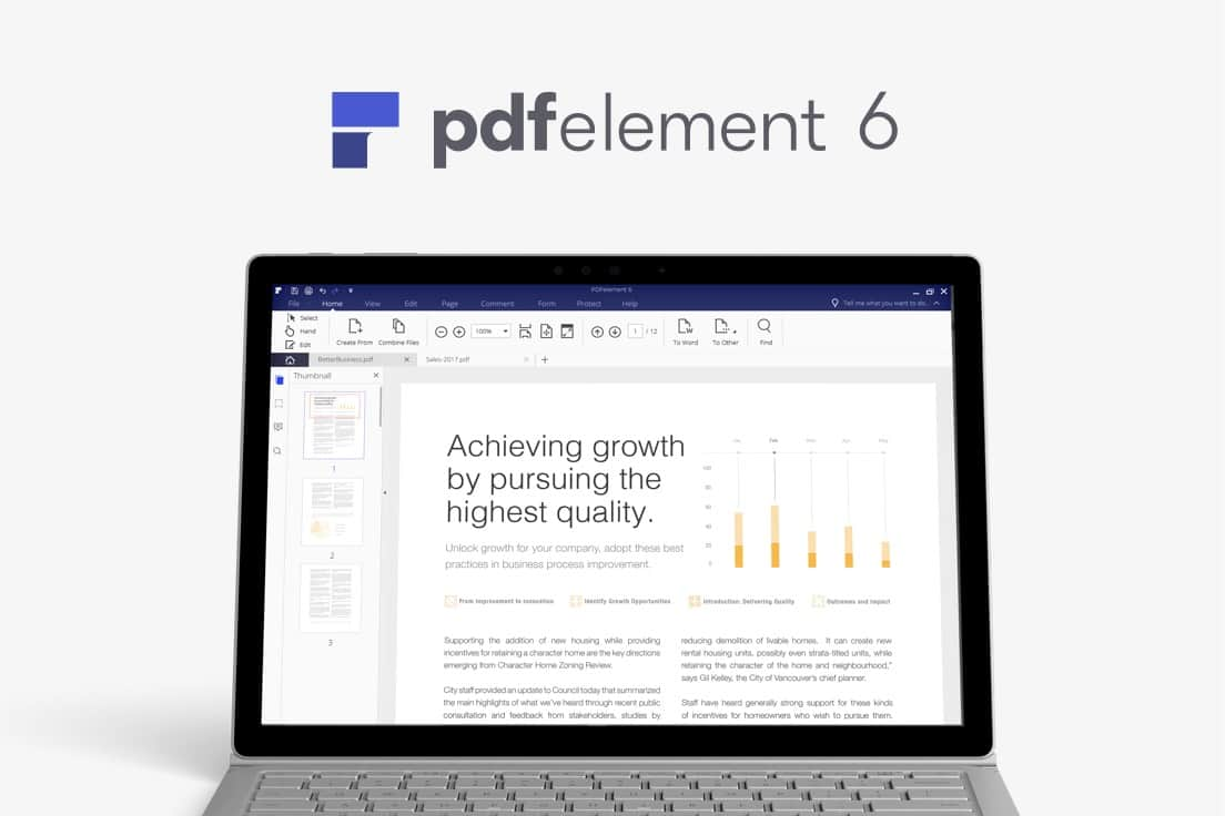 PDFelement 6 makes working with PDFs simple.