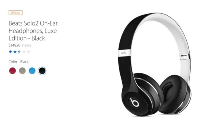 The Beats Solo2 headphones are on sale.