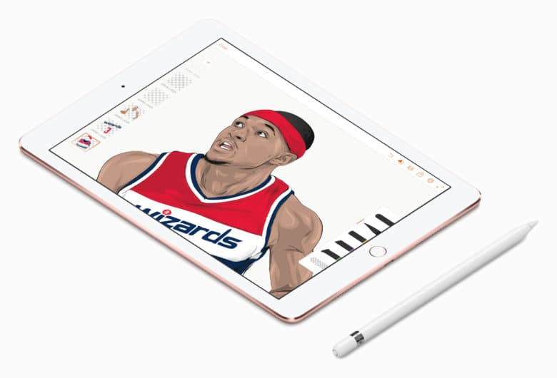 """Vector Art Monster"" Rob Zilla uses an iPad Pro and Apple Pencil to draw NBA stars."