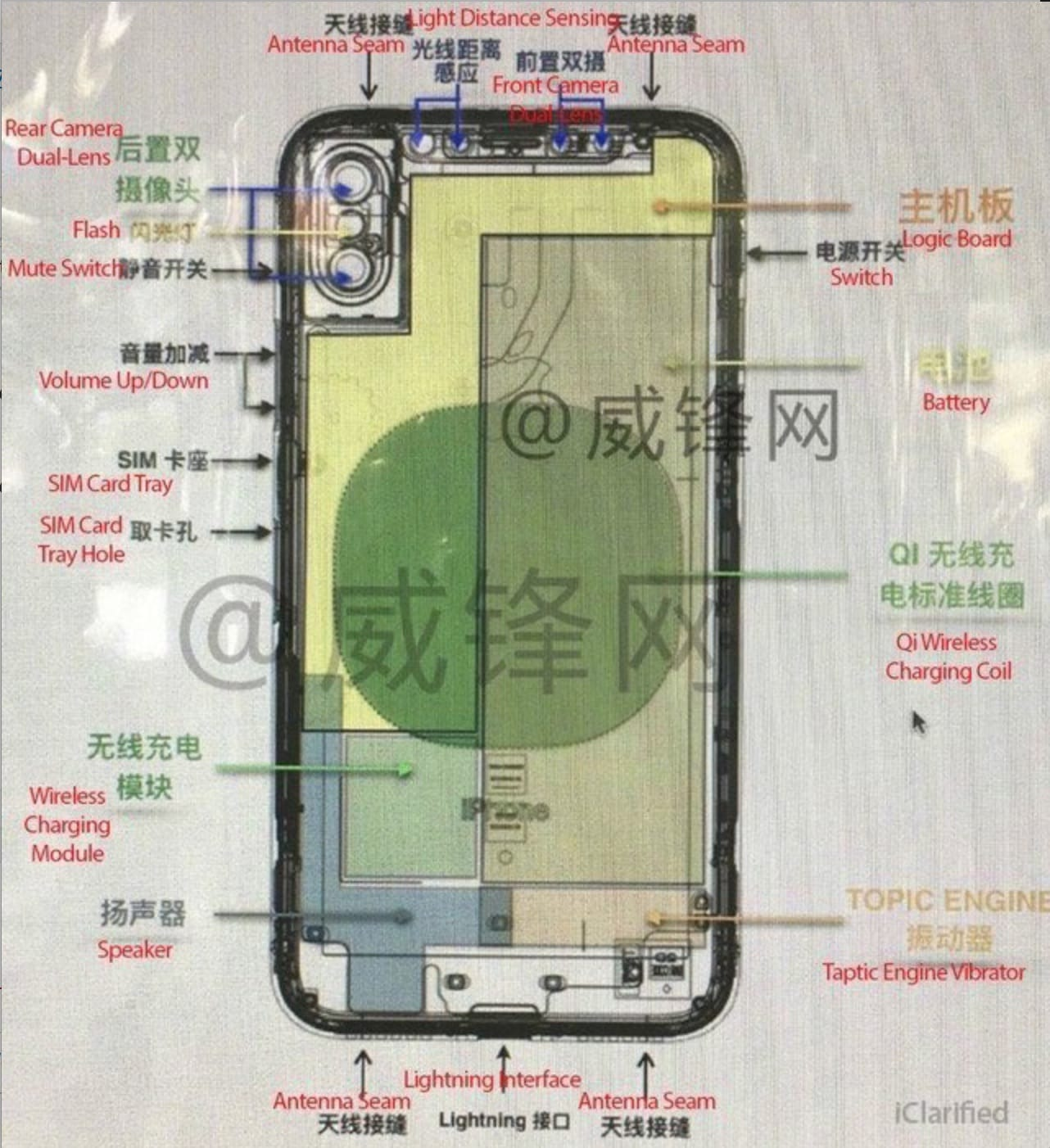Leaked IPhone 8 Schematic Reveals Dual Lens Front Camera And More