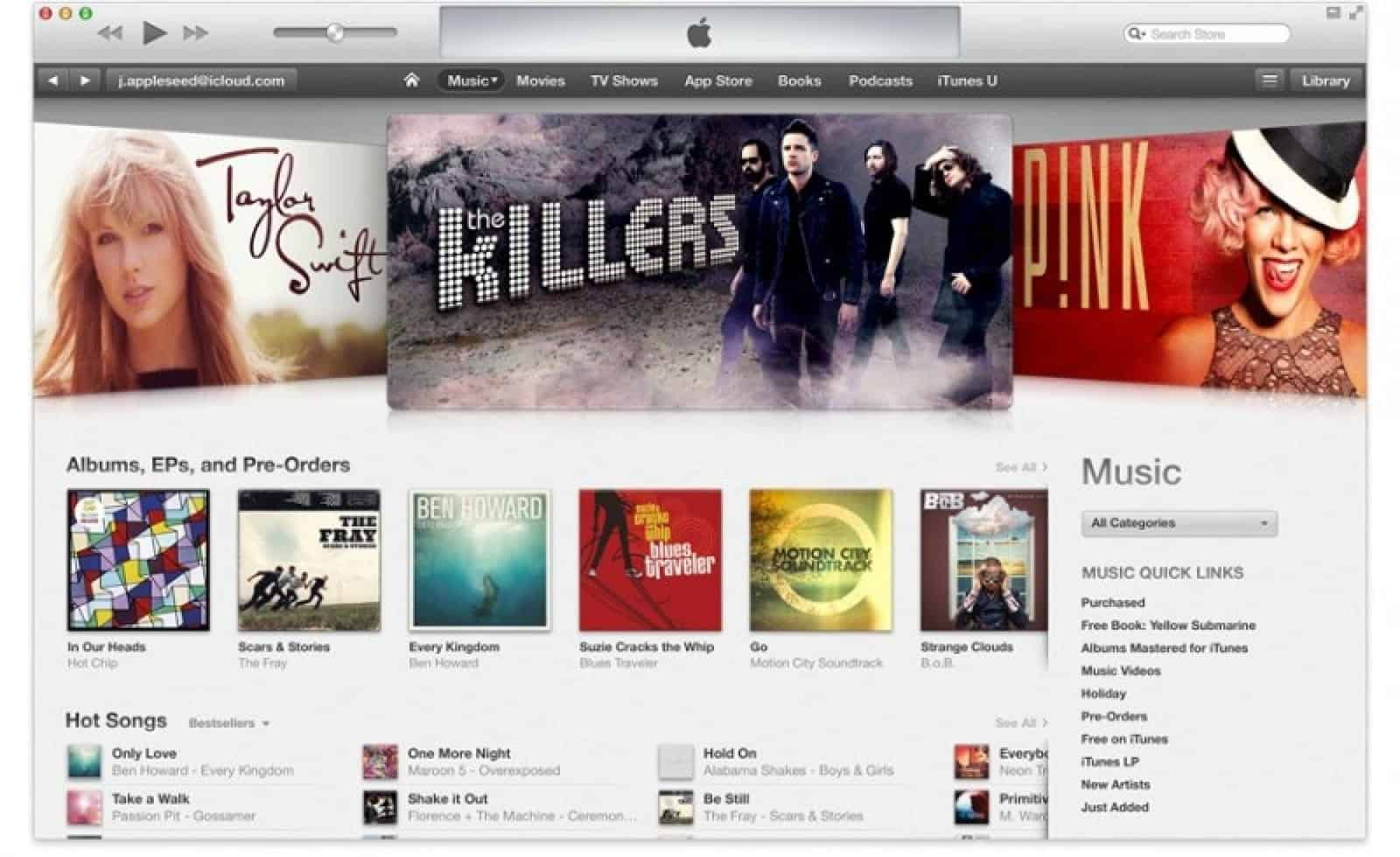 The iTunes Music Store revolutionized the music industry.