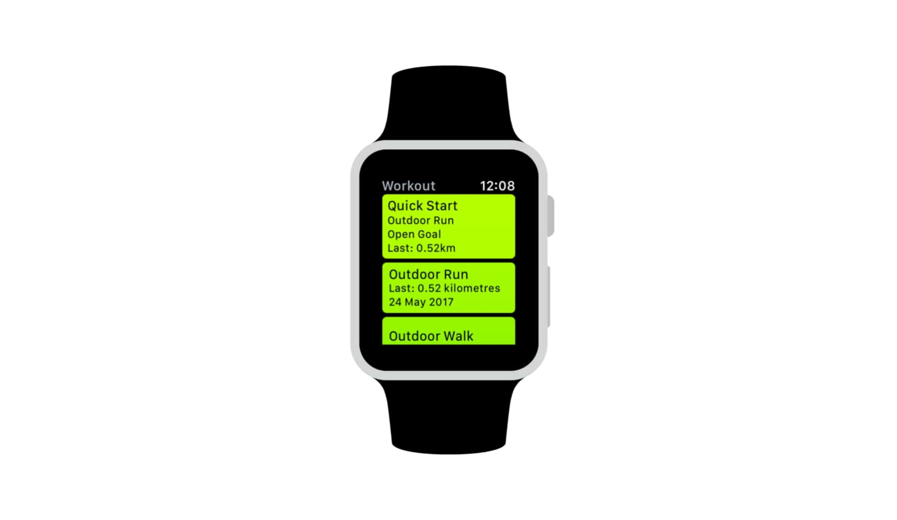 watchOS 3 workouts app